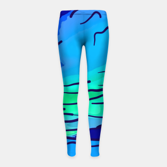 Thumbnail image of abstract style aurora borealis absstd Girl's leggings, Live Heroes