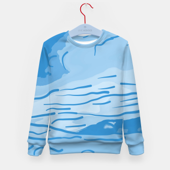 Thumbnail image of abstract style aurora borealis abswb Kid's sweater, Live Heroes