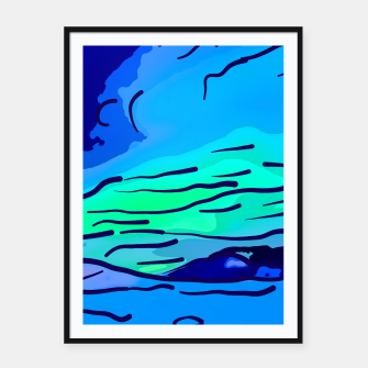 Thumbnail image of abstract style aurora borealis absstd Framed poster, Live Heroes