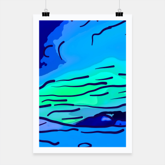 Thumbnail image of abstract style aurora borealis absstd Poster, Live Heroes