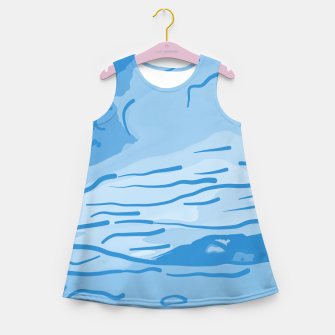 Thumbnail image of abstract style aurora borealis abswb Girl's summer dress, Live Heroes