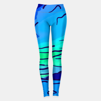 Thumbnail image of abstract style aurora borealis absstd Leggings, Live Heroes