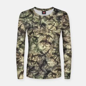 Miniatur Dragons camouflage Women sweater, Live Heroes