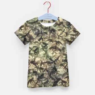 Thumbnail image of Dragons camouflage Kid's t-shirt, Live Heroes