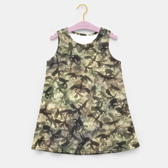 Thumbnail image of Dragons camouflage Girl's summer dress, Live Heroes