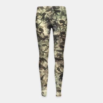 Thumbnail image of Dragons camouflage Girl's leggings, Live Heroes