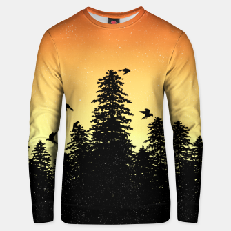 Night Forest Unisex sweater Bild der Miniatur