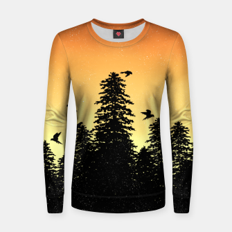 Night Forest Women sweater Bild der Miniatur