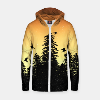 Night Forest Zip up hoodie Bild der Miniatur