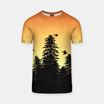 Night Forest T-shirt Bild der Miniatur