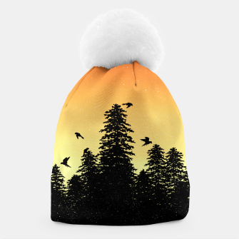 Night Forest Beanie Bild der Miniatur