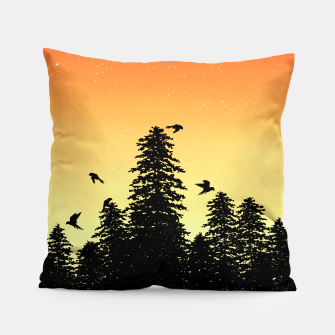 Night Forest Pillow Bild der Miniatur