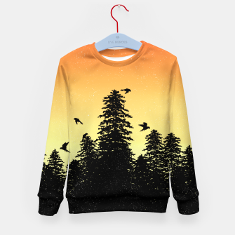 Night Forest Kid's sweater Bild der Miniatur
