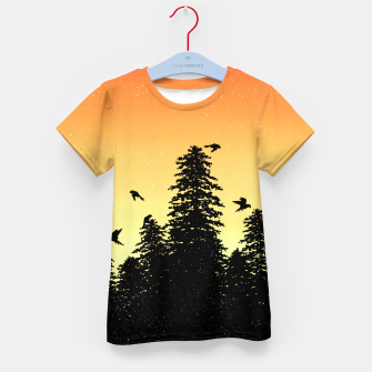 Night Forest Kid's t-shirt Bild der Miniatur
