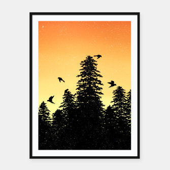 Night Forest Framed poster Bild der Miniatur