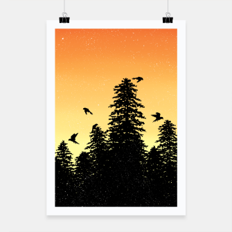 Night Forest Poster Bild der Miniatur