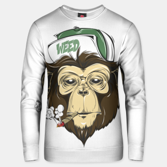 Thumbnail image of Roll one Smoke one, Even Monkeys Loves Weed Unisex sweater, Live Heroes