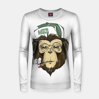 Thumbnail image of Roll one Smoke one, Even Monkeys Loves Weed Women sweater, Live Heroes