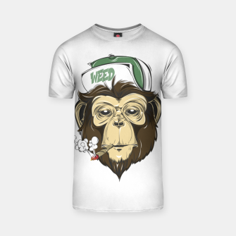 Thumbnail image of Roll one Smoke one, Even Monkeys Loves Weed T-shirt, Live Heroes