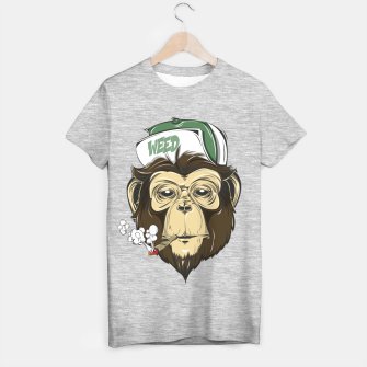Thumbnail image of Roll one Smoke one, Even Monkeys Loves Weed T-shirt regular, Live Heroes