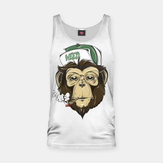 Thumbnail image of Roll one Smoke one, Even Monkeys Loves Weed Tank Top, Live Heroes