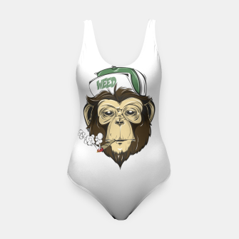 Thumbnail image of Roll one Smoke one, Even Monkeys Loves Weed Swimsuit, Live Heroes