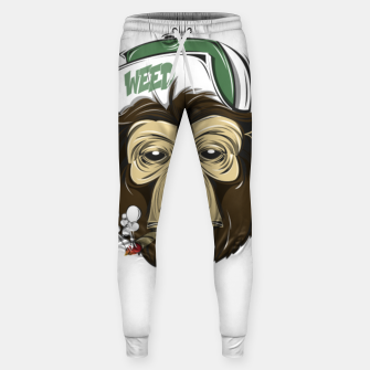 Thumbnail image of Roll one Smoke one, Even Monkeys Loves Weed Sweatpants, Live Heroes