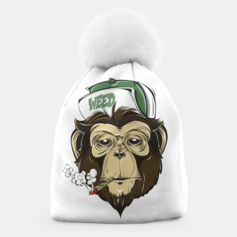 Thumbnail image of Roll one Smoke one, Even Monkeys Loves Weed Beanie, Live Heroes