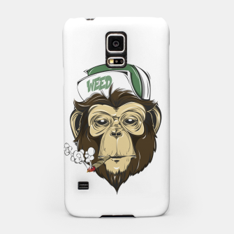Thumbnail image of Roll one Smoke one, Even Monkeys Loves Weed Samsung Case, Live Heroes