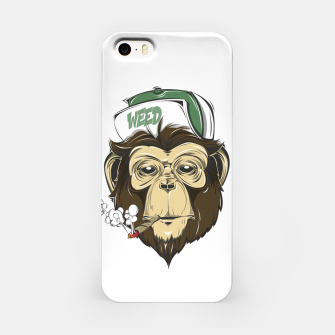 Thumbnail image of Roll one Smoke one, Even Monkeys Loves Weed iPhone Case, Live Heroes
