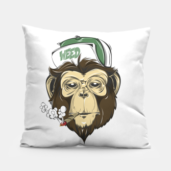 Thumbnail image of Roll one Smoke one, Even Monkeys Loves Weed Pillow, Live Heroes