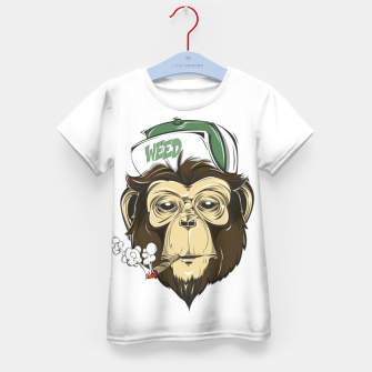 Thumbnail image of Roll one Smoke one, Even Monkeys Loves Weed Kid's t-shirt, Live Heroes
