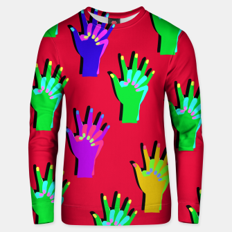 Thumbnail image of Red Clap Sweater, Live Heroes