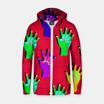 Thumbnail image of Red Clap Hoodie, Live Heroes