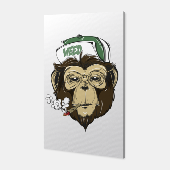 Thumbnail image of Roll one Smoke one, Even Monkeys Loves Weed Canvas, Live Heroes