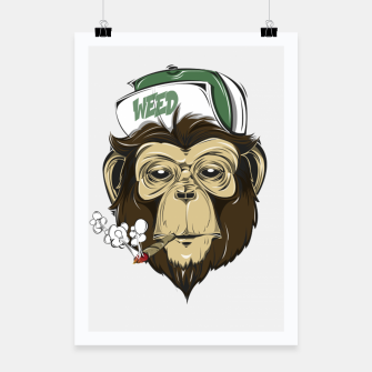 Thumbnail image of Roll one Smoke one, Even Monkeys Loves Weed Poster, Live Heroes