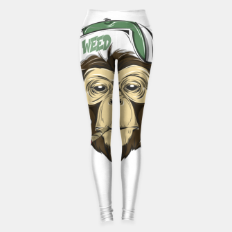 Thumbnail image of Roll one Smoke one, Even Monkeys Loves Weed Leggings, Live Heroes
