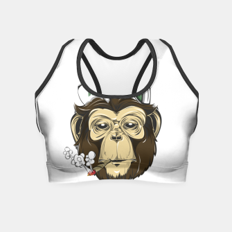 Thumbnail image of Roll one Smoke one, Even Monkeys Loves Weed Crop Top, Live Heroes