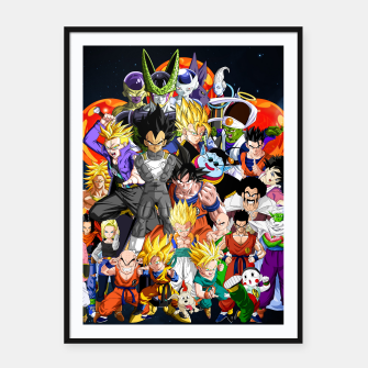 Miniature de image de DBZ - Another Character Collage Framed poster, Live Heroes