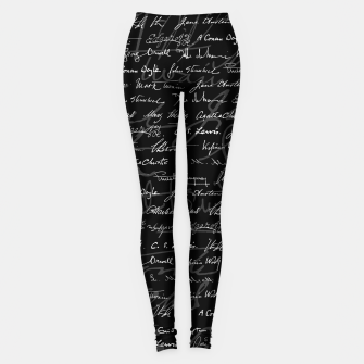 Literary Giants Signatures Pattern Leggings thumbnail image