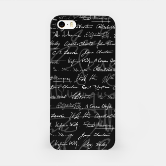 Literary Giants Signatures Pattern iPhone Case thumbnail image