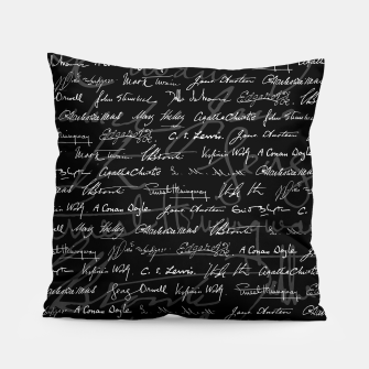 Literary Giants Signatures Pattern Pillow thumbnail image