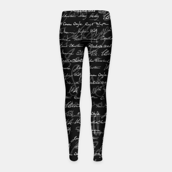 Literary Giants Signatures Pattern Girl's leggings thumbnail image