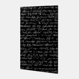 Literary Giants Signatures Pattern Canvas thumbnail image