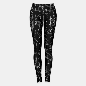 Thumbnail image of Literary Giants Signatures Pattern Leggings, Live Heroes
