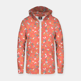 Miniatur Candy Camouflage in Coral Zip up hoodie, Live Heroes