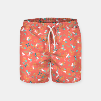 Miniatur Candy Camouflage in Coral Swim Shorts, Live Heroes