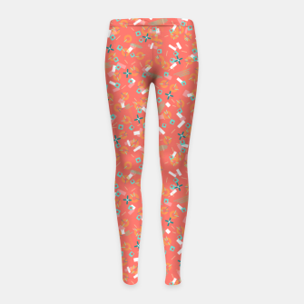 Miniatur Candy Camouflage in Coral Girl's leggings, Live Heroes