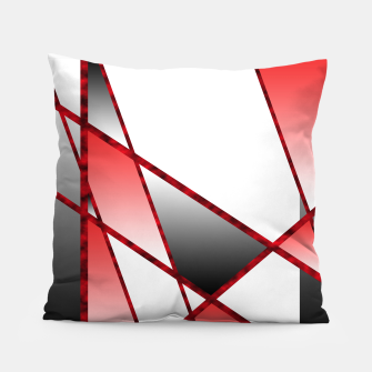 Thumbnail image of Red Abstract Pillow, Live Heroes