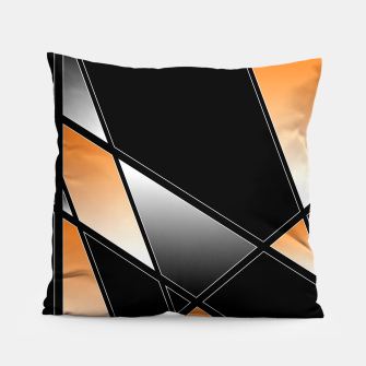Thumbnail image of Golden Abstract Pillow, Live Heroes